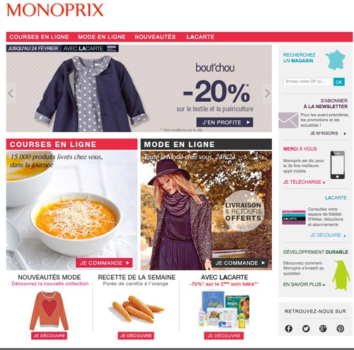 Coupons reduction monoprix