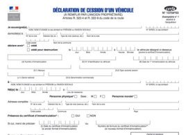 declaration de cession voiture