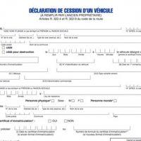 Certificat de cession (CERFA 13754) pour la vente d'un véhicule