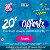 fdj promo 20€ offerts